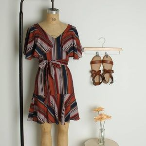 BOHO DRESS | WAIST TIE DRESS | BOHO WAIST-TIE DRES